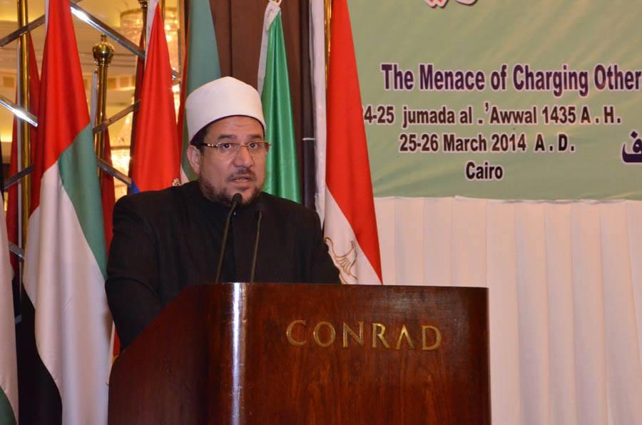 Minister of Endowments Mohamed Mokhtar Gomaa. (Photo from Minister of Endowments)