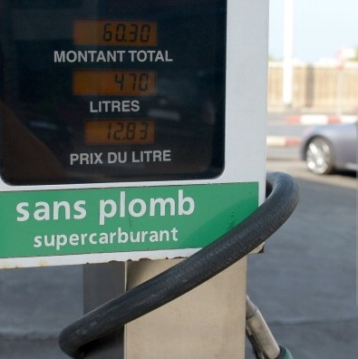 A pump is displayed at a petrol station on September 16, 2013 in Rabat. Fuel prices increased after Moroccan government implemented on September 16, 2013 an indexation measure as part of the efforts to contain the national deficit. (AFP PHOTO / FADEL SENNA)