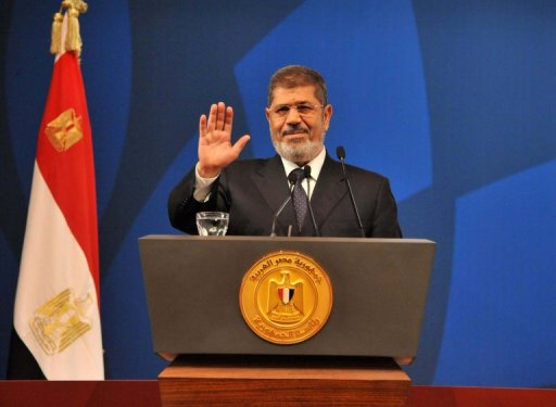 The family of ousted president Mohamed Morsi said they will appeal to international organisations for his release during a Monday press conference at the Syndicate of Engineers. (AFP Photo)