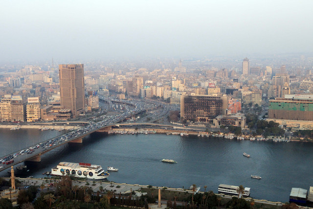 The Ministry of Water Resources and Irrigation signed contracts for five projects with the Social Fund for Development (SFD) to protect the Nile river in five governorates on Monday.   (Khaled Desouki/AFP/Getty Images)