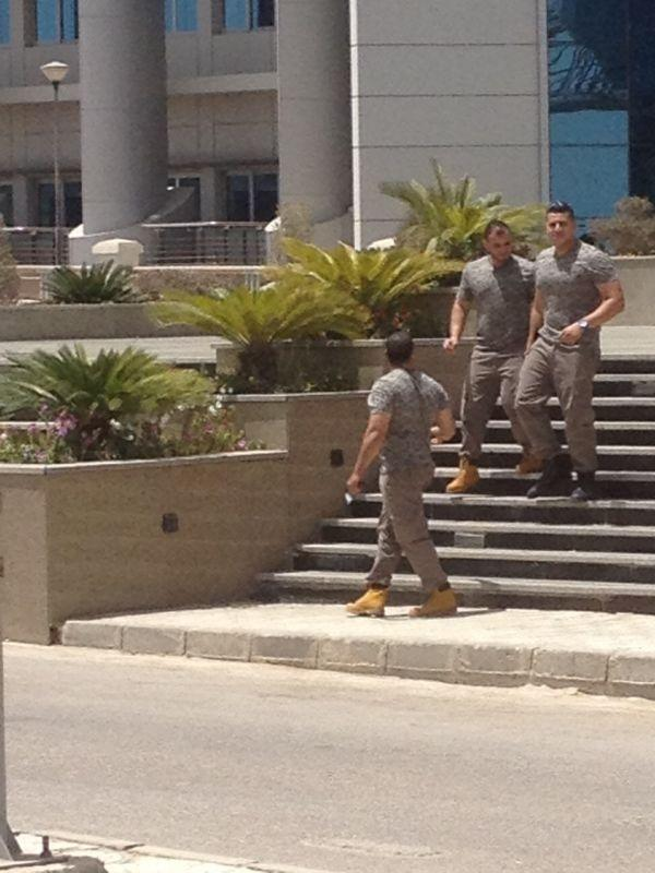 Zewail Science City security (Photo from Nile University Student Union Facebook page)