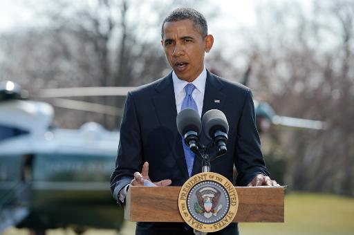 US President Barack Obama speaks at the South Lawn of the White House on March 20, 2014  (AFP/File, Mandel Ngan)