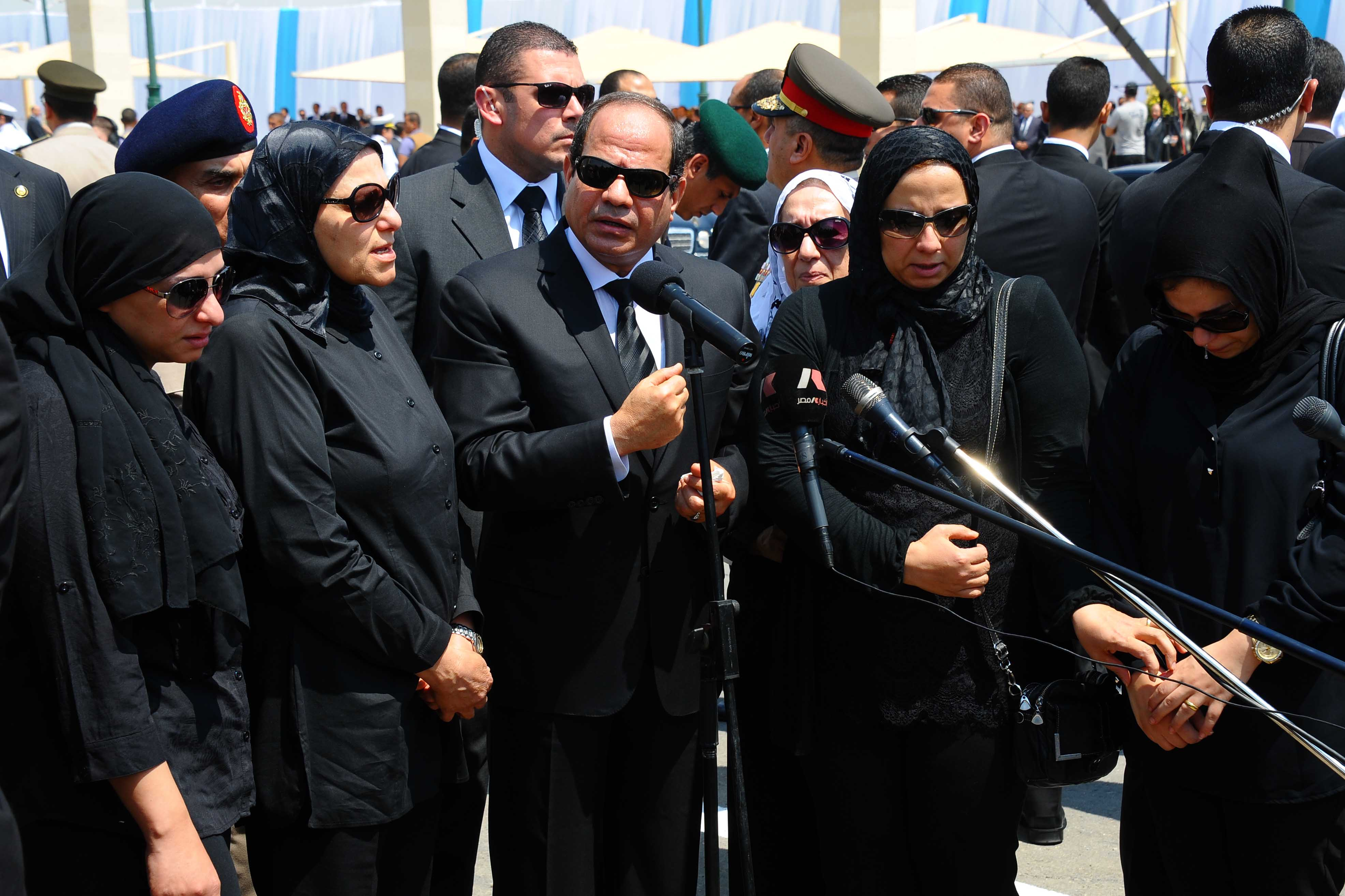 """President Abdel Fattah Al-Sisi made comments the day after Barakat's assassination saying """"effective justice is restricted by laws; we will amend laws to achieve justice as soon as possible"""". (Photo Presidency Handout)"""