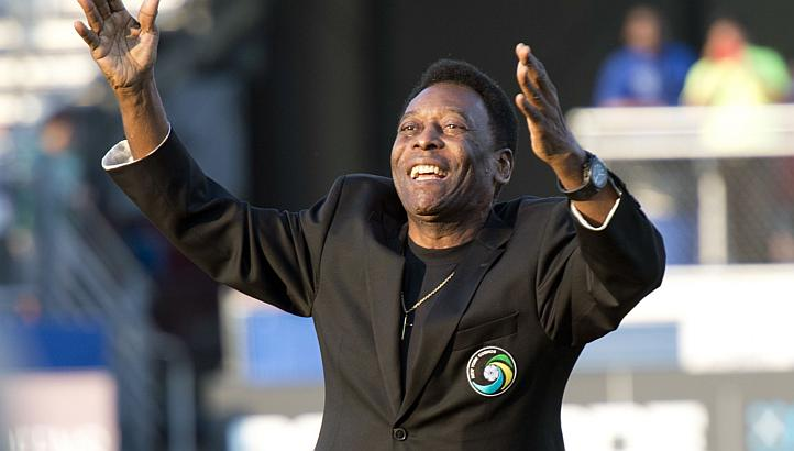 "Pele, the Brazilian Football legend also known as ""The Black Pearl"" (AFP Photo)"