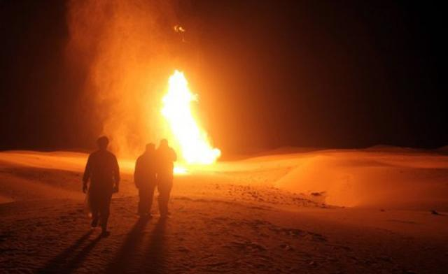 Unidentified gunmen bombed a natural gas pipeline 50km south of the Sinai town of Al-Arish late Monday evening (AFP File Photo)