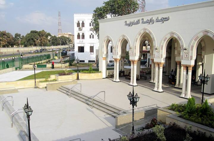 The Engineering Authority of the Armed Forces has completed its work of restoring Rabaa Al-Adaweya Square and hospital.  (Photo from Army Spokesman Facebook Page)