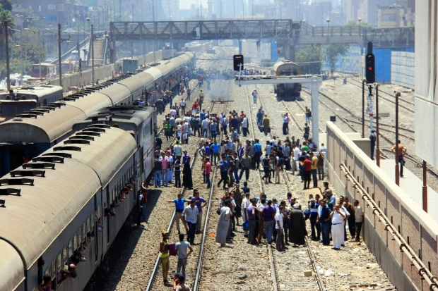 Number of railway passengers grew to 15.4 million in August, a 52.5% surge compared to the same period last year. (AFP photo)