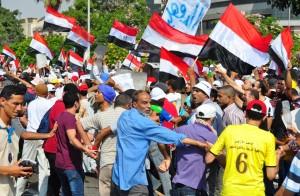 Pro-Morsi march in Salah Salem