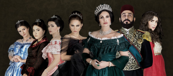 """The series """"Saraya Al-Abdeen,"""" starring Yousra, also tops the list of most expensive dramas this year. The historical nature of the series imposed higher than usual production costs for the historically accurate clothing, as well as accessories, décor, and to gain a number of big Arab stars. (Photo from MBC Misr)"""