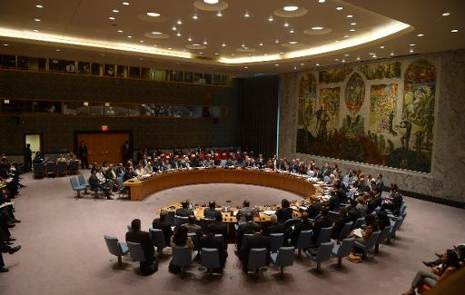 A high-level UN Security Council meeting at the United Nations headquarters in New York on August 6, 2013  (AFP/File, Emmanuel Dunand)