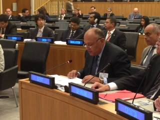 Foreign Minister Sameh Shoukry participated in discussions and meetings on regional and international issues in New York including Libya, Syria, Iraq, and Palestine, and the efforts to establish the Middle East as a zone free of nuclear weapons. (Photo Ministry of Foreign Affairs Handout)