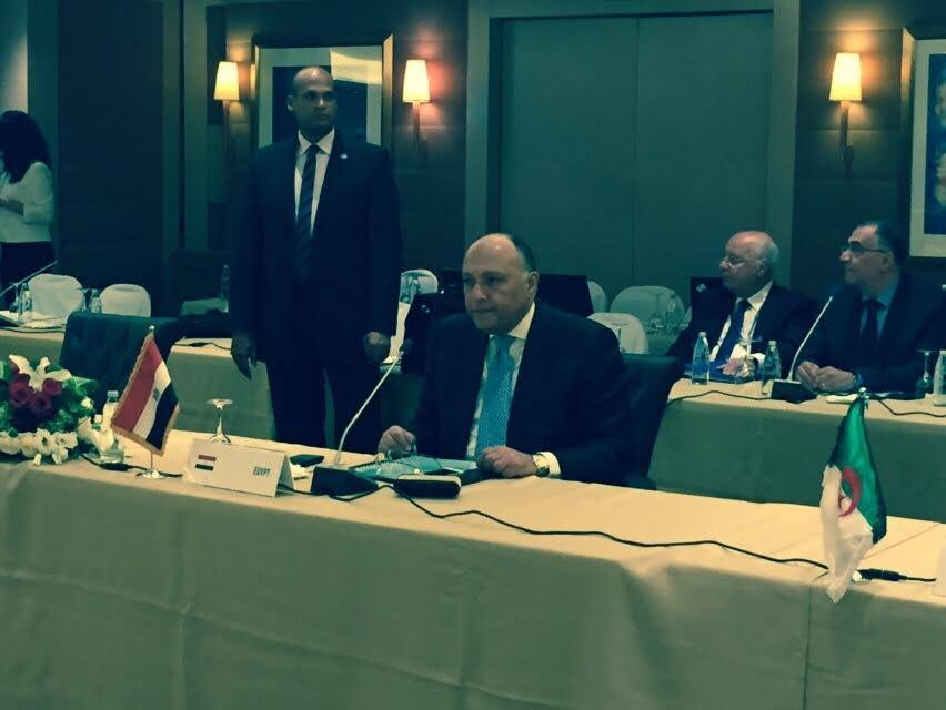 Egyptian Foreign Minister Sameh Shoukry participated Wednesday in the first Arab consultative meeting in Beirut. Representatives of Egypt, Jordan, Lebanon, Palestine, Algeria, Tunisia and Morocco, met with EU partners to review the European Neighbourhood Policy. (Photo Ministry of Foreign Affairs Handout)