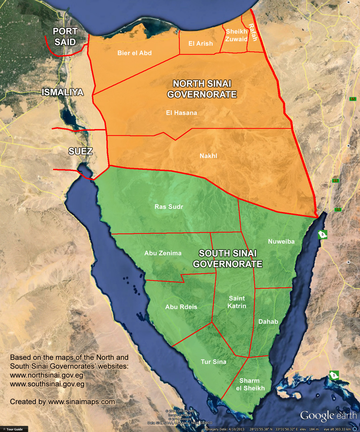 Geographic overview of North Sinai (Photo Public Domain)