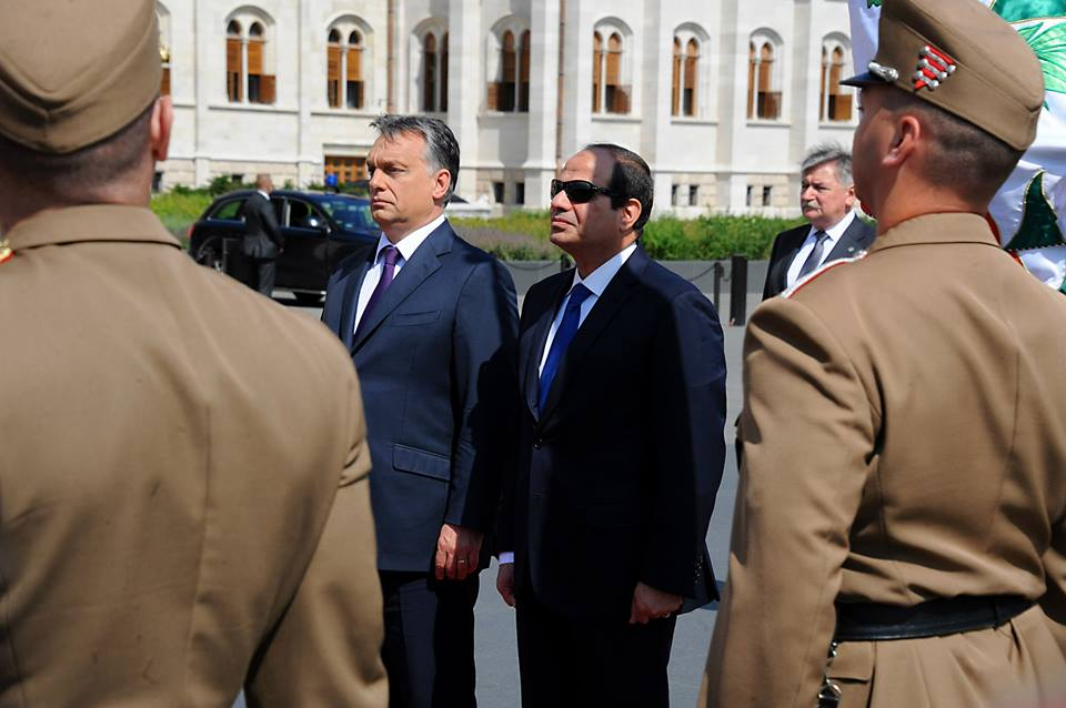 Al-Sisi met with with Hungarian Prime Minister Viktor Orbán (Photo Presidency Handout)