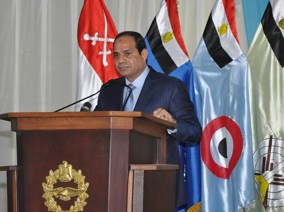 President Al-Sisi promised the displaced North Sinai families heavy value compensations (Handout from the Armed Forces)