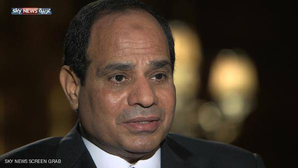 In the second part of his interview on Abu Dhabi based news channel Sky News Arabia, Al-Sisi discussed his proposed policy on terrorism and Egypt's foreign relations if elected president. He also called for Arab unity. (Photo from Sky News Arabia)