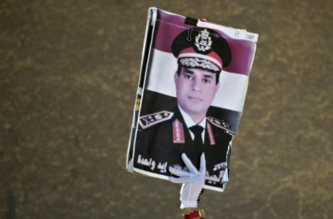 The 6 April Youth Movement has said a presidential campaign by Minister of Defence Abdel Fattah Al-Sisi would only serve to further divide and polarise Egyptian society. (AFP Photo)