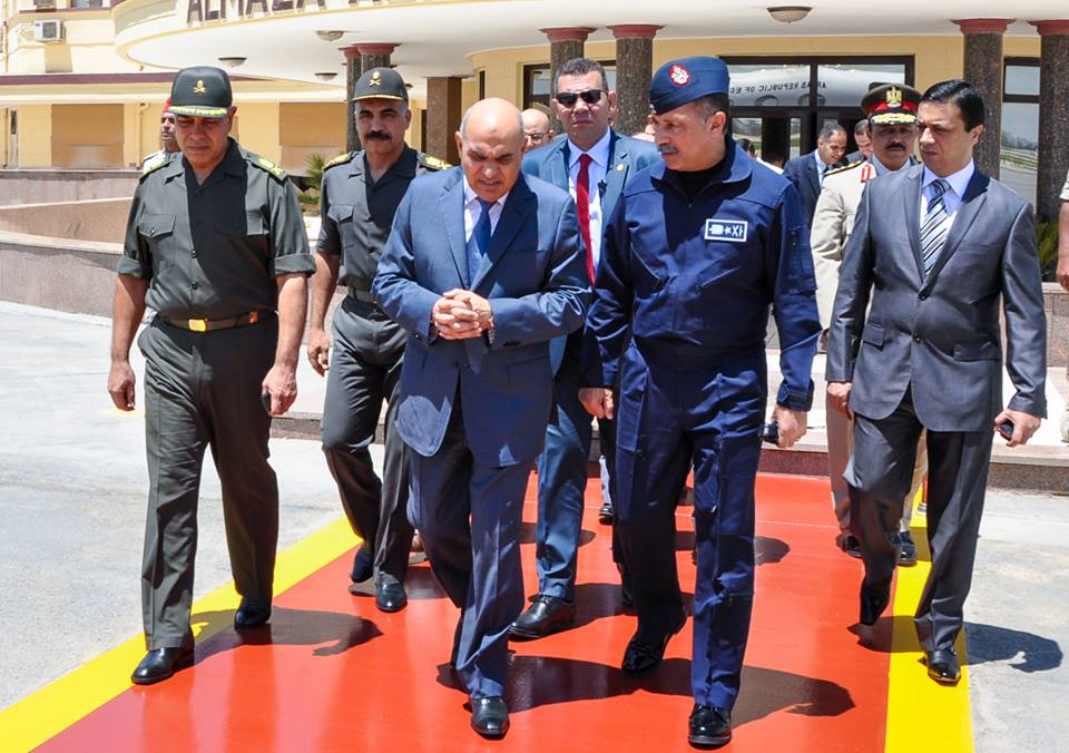 Defence Minister Sedki Sobhi left for France on Monday for his first official visit to the country, which will last for several days. (Photo Ministry of Defence Handout)