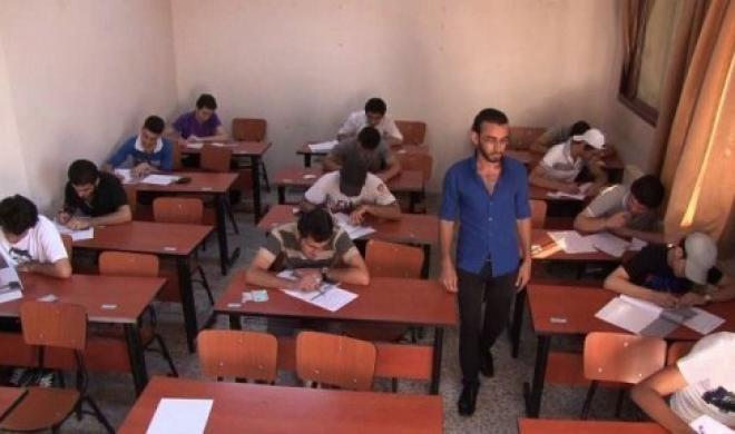 Students Against the Coup (SAC) reported that detained Al-Azhar secondary school students in the 10th of Ramadan district were deliberately disrupted by supervisors as they took their exams in detention on Saturday. (AFP File Photo)