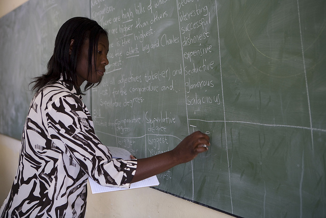 A teacher in Namibia.  (Photo By World Bank)