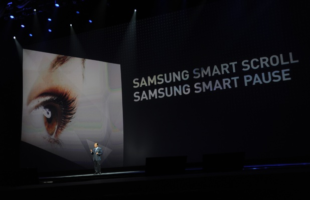 JK Shin introduces the Samsung Galaxy S4 (AFP File Photo)