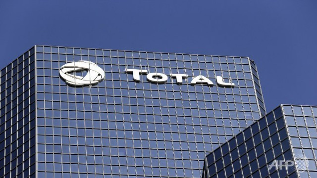 The headquarters of French oil giant group Total at La Defense business district.  (AFP/Kenzo Tribouillard)