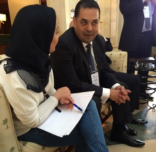 Daily News Egypt interviews EY partner Ahmed El-Sayed (Photo by Aya Nader)