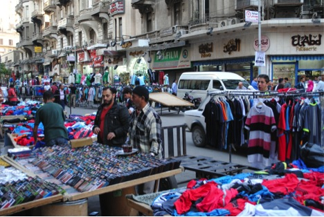 Street vendors in downtown Cairo are expected to relocate in four months.  (Photo by Jihad Abaza).