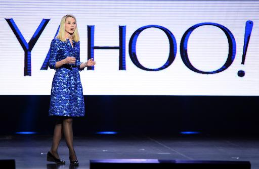 Yahoo! President and CEO Marissa Mayer delivers a keynote address at the 2014 International CES on January 7, 2014 in Las Vegas, Nevada  (Getty/AFP/File, Ethan Miller)
