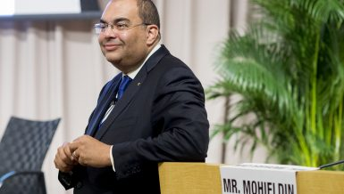 Mahmoud Mohieldin, UN Special Envoy on Financing the 2030 Agenda for Sustainable Development, has been elected as an Executive Director at the International Monetary Fund (IMF) and representative for Egypt and the Arab Group.