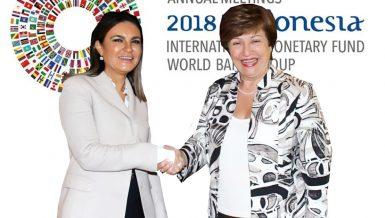 minister of international cooperation Sahar Nasr and WB