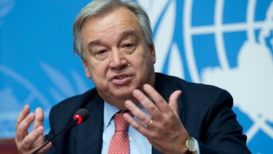 António Guterres, the United Nations' (UN secretary general