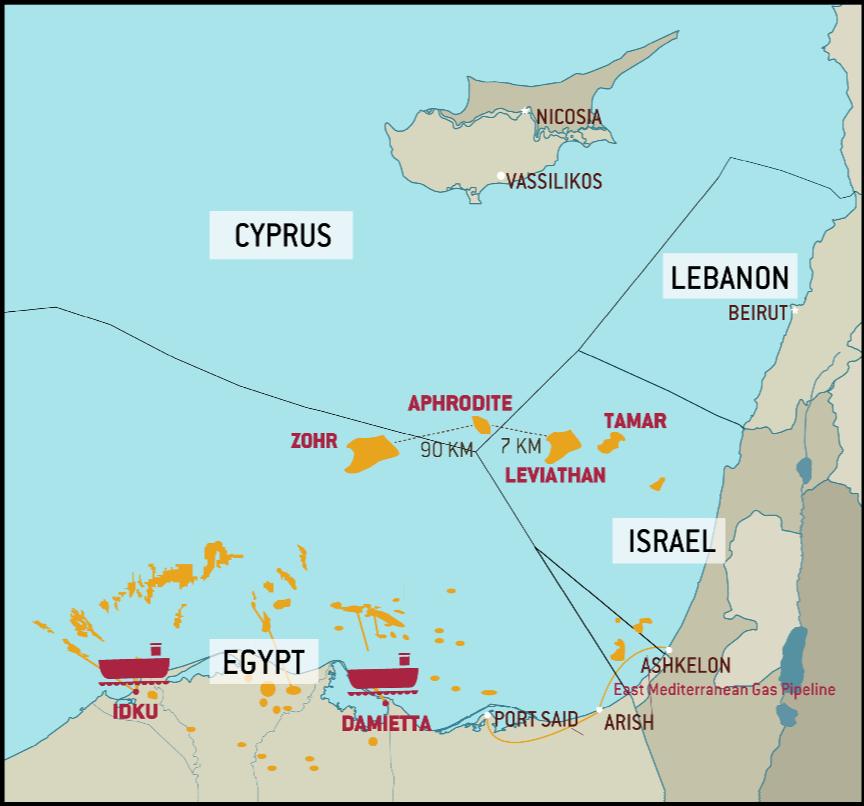 Image result for mediterranean stratfor gas east