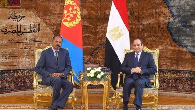 Egyptian President Abdel Fattah Al-Sisi received his Eritrean counterpart, Isaias Afwerki