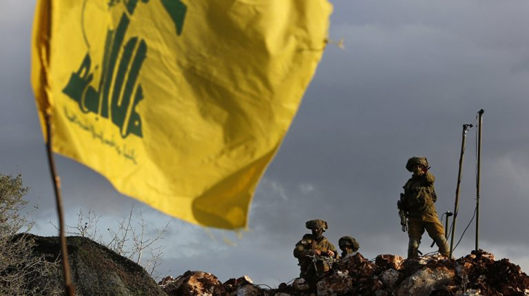 The Lebanese Hezbollah group said its fighters shot down an Israeli drone near Lebanon's border with Israel on Monday