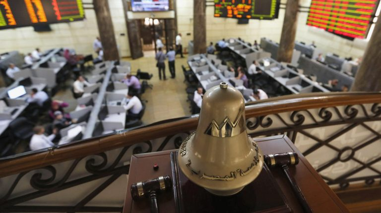 A general view of the Egyptian Exchange (EGX) in Cairo August 18, 2013. Egypt's stock market fell sharply on Sunday as it resumed trading after hundreds of people were killed in a crackdown by the army-backed government on supporters of the Muslim Brotherhood. Banks and the stock market reopened for the first time since Wednesday's carnage, with shares rapidly falling 2.5 percent.