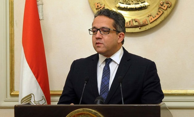 Egypt's Minister of Tourism and Antiquities Khaled Al-Anani