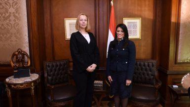 Malinne Blomberg and Rania Al-Mashat