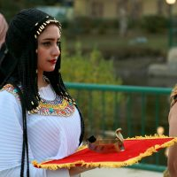 Ancient Egyptian bride maid