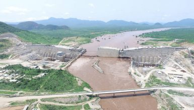 Grand Ethiopian Renaissance Dam over the Nile river Egypt Ethiopia tensions