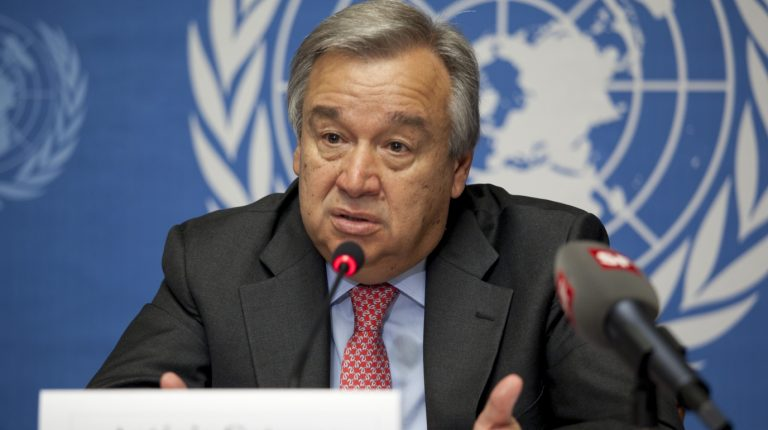 United Nations (UN) Secretary-General Antonio Guterres