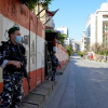 Security forces during Lebanon COVID-19 lockdown
