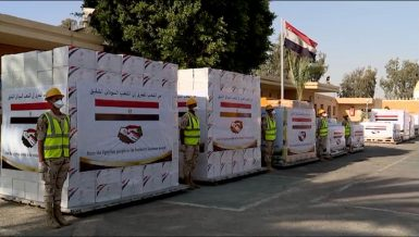 , Egyptian President Abdel Fattah Al-Sisi instructed for the dispatch of four military planes carrying medical supplies to Sudan to help the country in its fight against coronavirus (COVID-19)