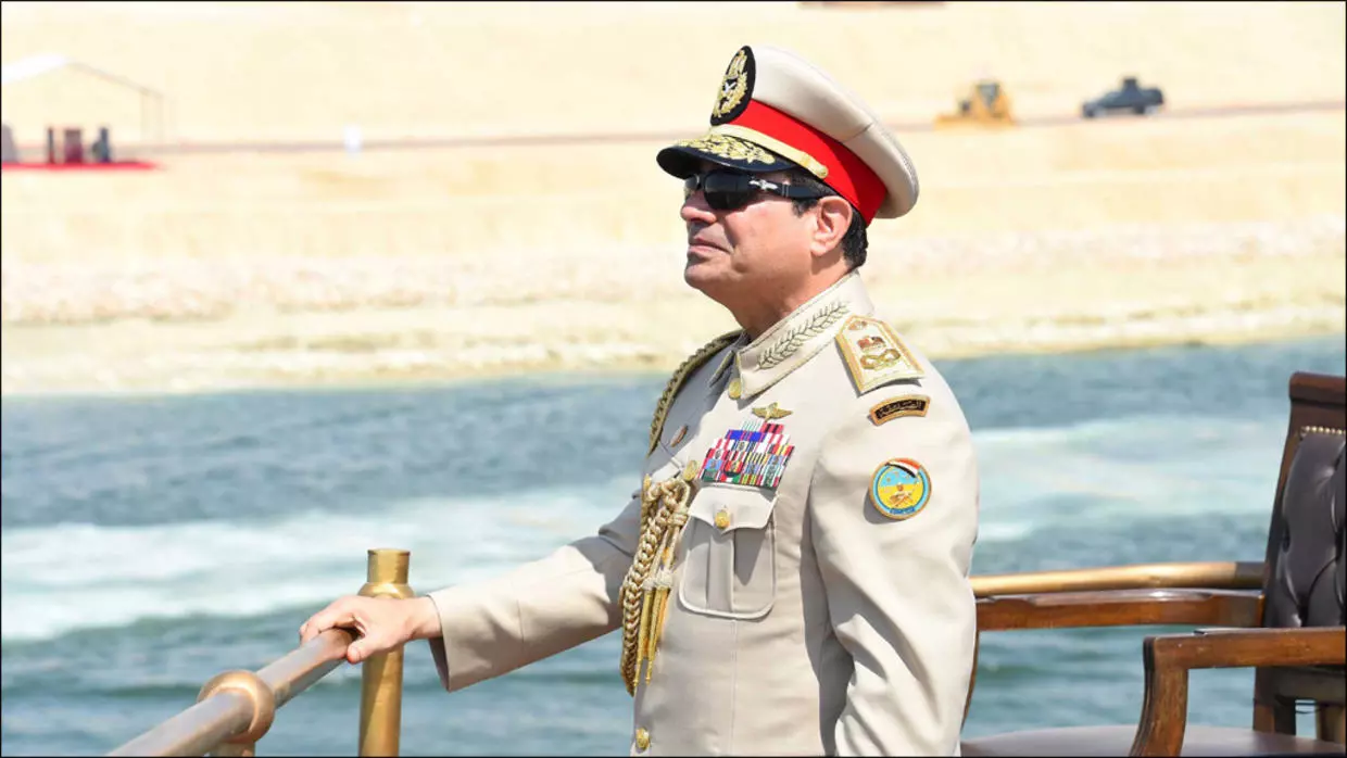 President Abdel Fattah Al-Sisi during the inauguration of the New Suez Canal in August 2015