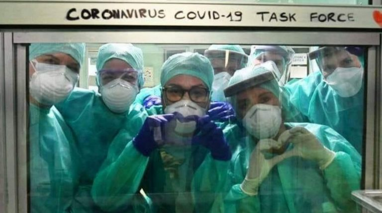 Healthcare workers wearing personal protective equimpment on the frontlines against coronavirus (COVID-19) Daily News Egypt