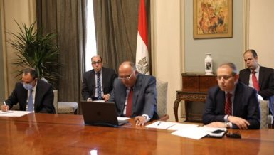 Egyptian Minister of Foreign Affairs Sameh Shoukry During the teleconference meeting Egypt, Cyprus, Greece, France and the United Arab Emirates (UAE) discussed on Monday the latest developments in the Eastern Mediterranean