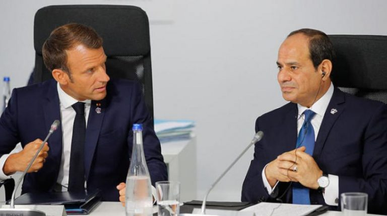 Al-Sisi, Macron stress the need for political solution in Libya, reject foreign interference