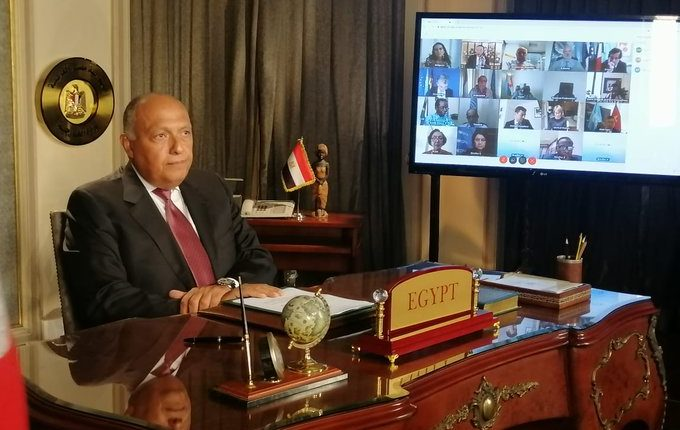 Egypt's Minister of Foreign Affairs Sameh Shoukry Addressing UN Security Council session on The Grand Ethiopian Renaissance Dam (GERD)