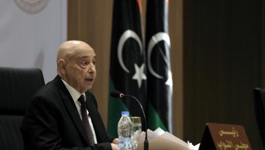 President of the Libyan House of Representatives Aguila Saleh