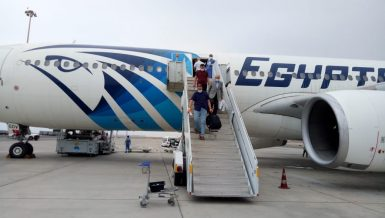 Egypt's Red Sea resort cities of Hurghada and Sharm El-Sheikh airports received, on Wednesday, two planes from the Ukrainian Capital, Kyiv. marking the return of tourism after coronavirus pandemic Daily News Egypt